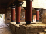 Guards' Verandah  Royal Apartments  Palace of Knossos  2nd millennium BC Minoan  Crete