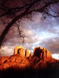 Sunset Sky over Cathedral Rock  Sedona  Arizona  USA
