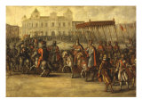 Emperor Charles V  Entering Bologna  Italy for his Coronation  1530