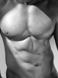 Muscular Shot of Male Chest and Stomach Papier Photo par Rob Lang