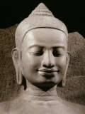 Face  Buddha Protected by the Naga  Sandstone  late 12th - early 13th century