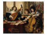 Musicians and Young Singer  from L'ouie (Hearing)  c 1635