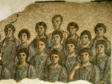 Sacred Choir  Polychrome Mosaic  3rd century  from Roman Temple of Diana