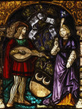 Musician and Lady  Stained Glass  Late 15th - early 16th Century Swiss
