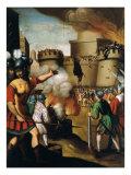 Saint Ignatius Loyola  1491-1556 Founder of Jesuit Order  at the Siege of Pampeluna