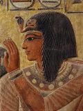 Sety I  c1290-1279 BC 19th Dynasty New Kingdom Egyptian Pharaoh  with Goddess Hathor