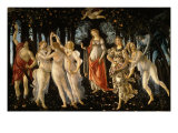 La Primavera (Spring)  c1477  with Venus  Zephyr  Chloris  Flora  Mercury  Cupid  Three Graces
