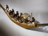 Boat  Model  Painted Wood c 2000 BC Middle Kingdom Egyptian