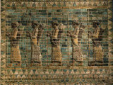 Frieze of the Archers  Polychrome Glazed Brick  5th century BC