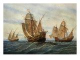 Caravels of Christopher Columbus  1451-1506 Italian (Genoese) Explorer