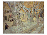 The Road Menders at Saint-R  or Large Plane Trees  1889