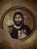 Christ Pantocrator  Mosaic  Cupola  Daphni Monastery  late 11th century Byzantine  Greece
