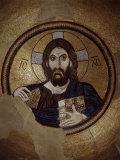 Christ Pantocrator  Mosaic  Cupola  Daphni Monastery  late 11th century Byzantine  Greece