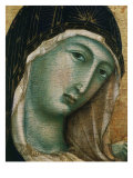 Face of Virgin Mary  from Madonna with Child altarpiece  Convent of San Domenico