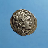 Alexander III the Great  356-323 BC  Wearing Horns of God Amon  Coin from Period of Ptolemy I