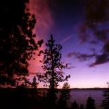 Sunset over Lake Tahoe  Nevada  USA