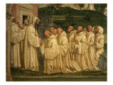 St Benedict of Nursia Prays with his Monks  Fresco