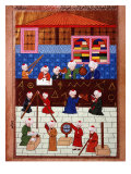 Wise Men and Astronomers in the Galata Observation Tower  Ottoman Minature  16th century