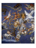 Ceiling from Sala del Mappamondo Fresco by G De Vecchi and da Reggio