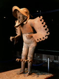 Eagle Man  Terracotta  from Recinto de los Caballeros Aguilas  Mexico