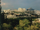 Athens  Greece  Showing the Acropolis