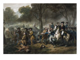 George Washington 1732-1799  First US President  on Horseback during the Battle of Monongahela