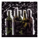 Silhouette of Wine Bottles