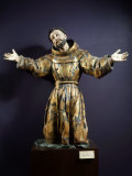 Saint Francis of Assisi in Ecstasy  Painted and Gilded Wood  17th century Mexican