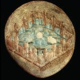Jerusalem the Holy City  Fresco  16th century  Tecamachalco  Puebla  Mexico
