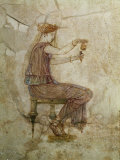 Woman Pouring Perfume into Flask  Fresco  1st Century  from Villa Farnesina