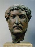 Hadrian  76-138 AD Roman Emperor  Bronze Head  from Egypt