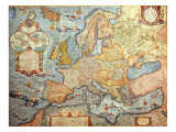 Map of Europe  from 1686 Copy of Atlas by Joan Blaeu