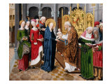 Presentation of Jesus in the Temple by Virgin Mary  from Life of Mary  1485