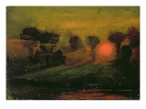 Sunset through Trees  c1855
