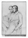 Double Portrait of Hippolyte and Paul Flandrin  1835