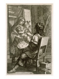 Artist at Work  from 'Recueil de Figures'  pub Paris  1737