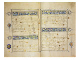 Illuminated pages of a Koran manuscript  Il-Khanid Mameluke School