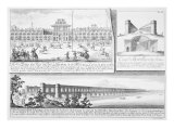 The Royal Palace at Isfahan  A Cross-Section of the Alyverdy-Chan Isfahan Bridge and a View of the