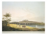 The Armenian Bridge  Madras  From 'Oriental Scenery: Twenty Four Views in Hindoostan'  engraved by