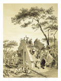 Bridge near Canton  Plate 30 from 'Sketches of China'  engraved by Eugene Ciceri