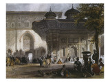 Imperial Gate of Topkapi Palace and Fountain of Sultan Ahmed III  Istanbul  1839