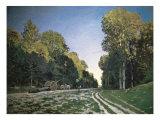 Route de Chailly  Fontainebleau  1864