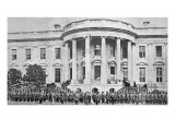 The White House  Washington DC  at the Start of the American Civil War  1861