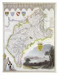 Map of Cumberland  from 'Moule's English Counties'  c1836
