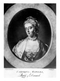 Caroline Matilda  Queen of Denmark and Norway  Engraved by Brookshaw