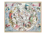 Map of the Southern Hemisphere  from &#39;The Celestial Atlas  or The Harmony of the Universe&#39;