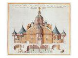 Tycho Brahe's Observatory Uraniborg from Joan Blaeu's 'Atlas Major'  1663
