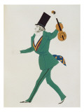 Costume Design for Paganini in &#39;The Enchanted Night&#39; by Gabriele d&#39;Annunzio