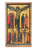 The Crucifixion with Holy Women  Mourners  Christ on the Road to Calvary and the Deposition  Right