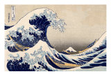 The Great Wave off Kanazawa from from the Series '36 Views of Mt Fuji'  Hokusai  Katsushika